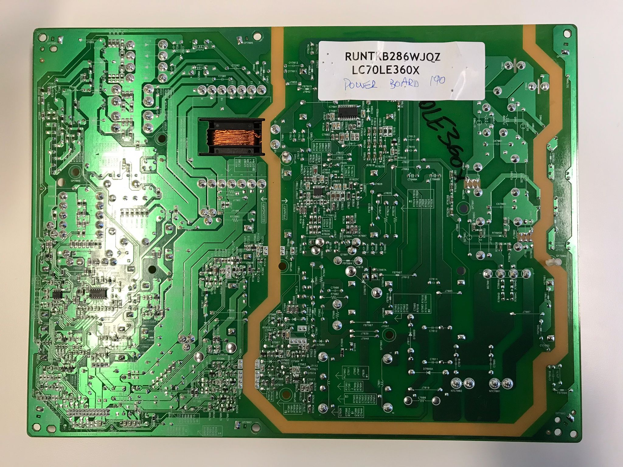 Sharp LED LCD Power Board LC70LE360X