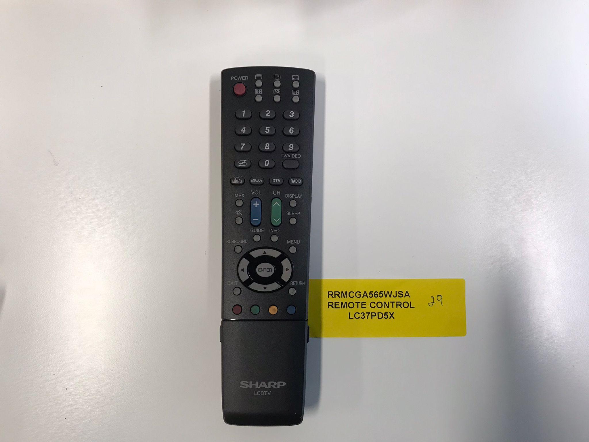 Sharp TV Remote Control RRMCGA565WJSA