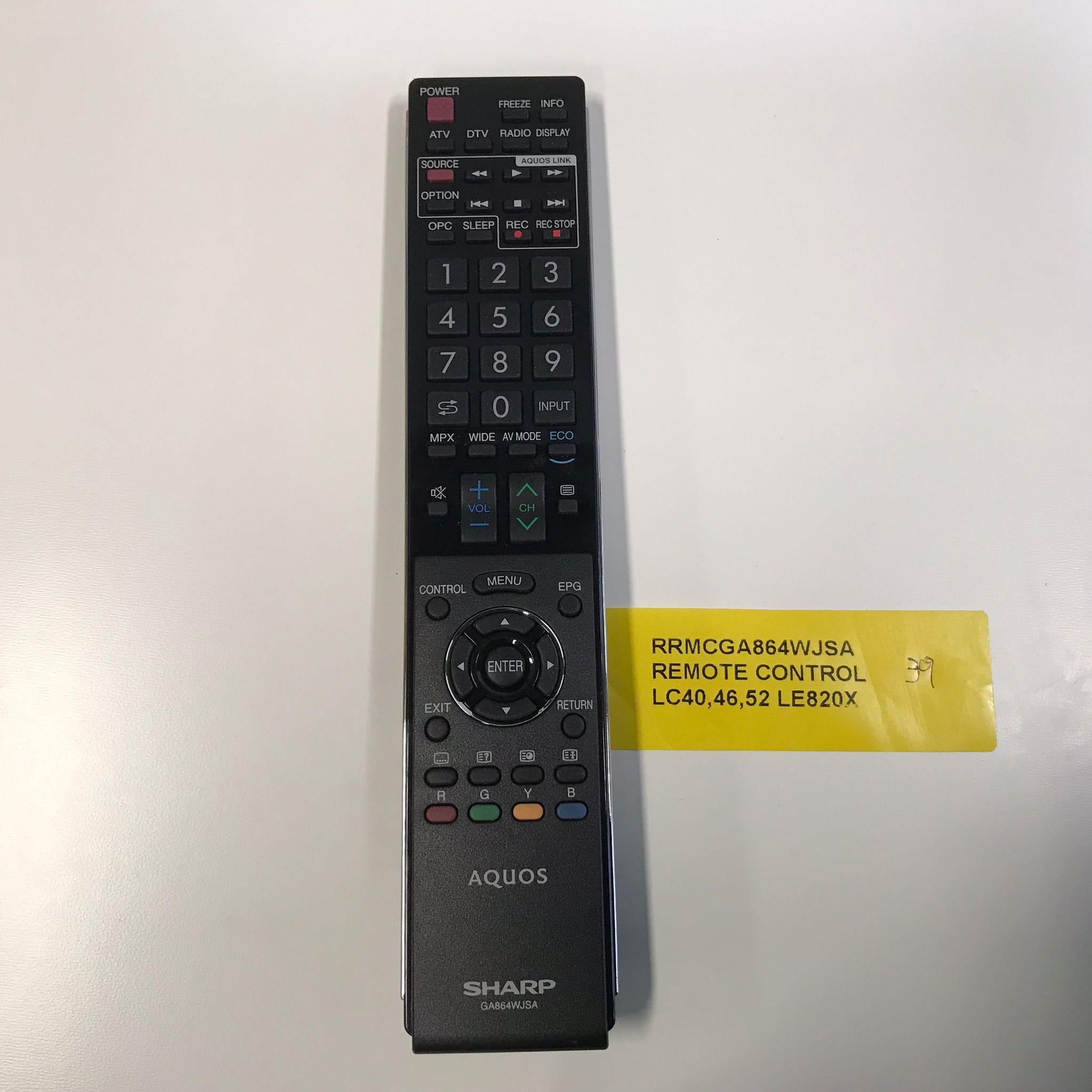 Sharp TV Remote Control RRMCGA864WJSA