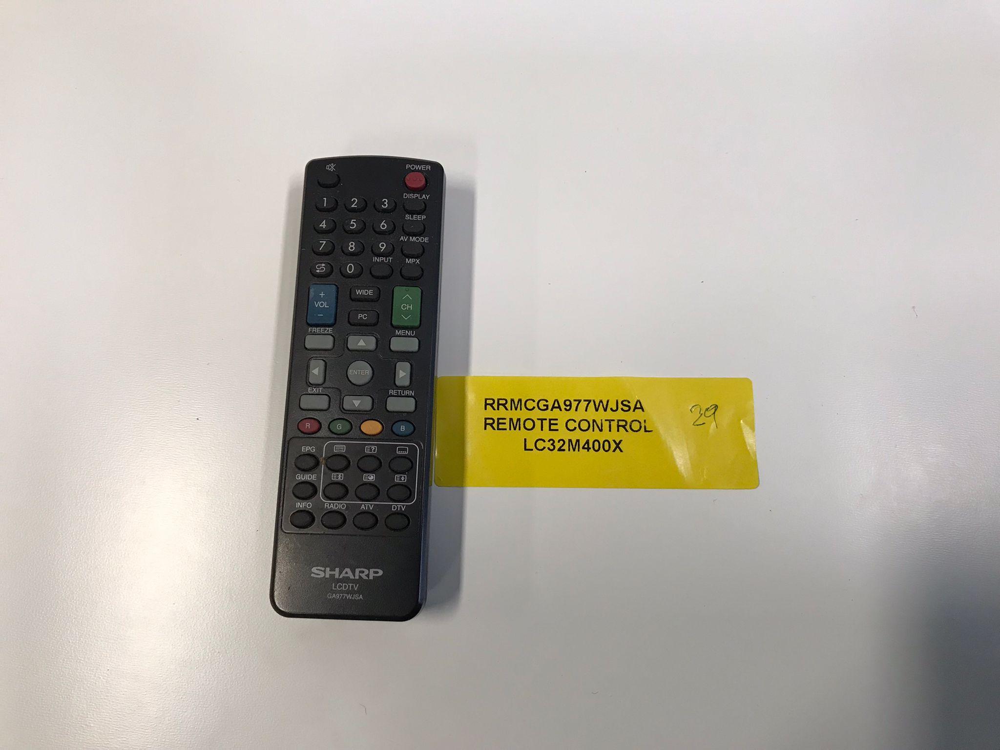 Sharp TV Remote Control RRMCGA977WJSA