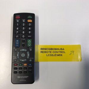 Sharp TV Remote Control RRMCGBO36WJSA